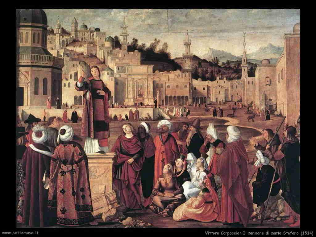 Carpaccio Sermone di Santo Stefano 1514