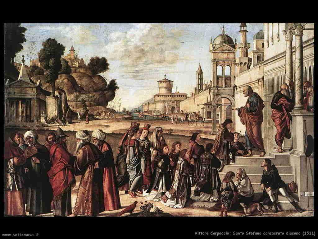 Carpaccio  Santo Stefano consacrato diacono 1511