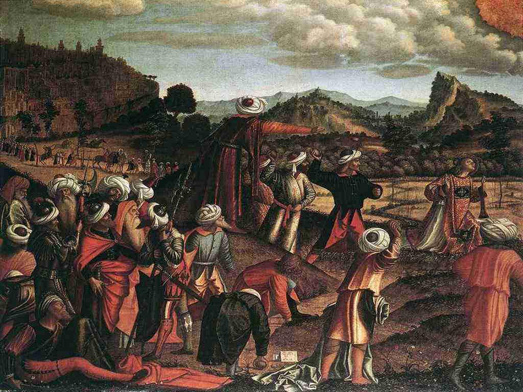 Carpaccio - Lapidazione di Santo Stefano  1520