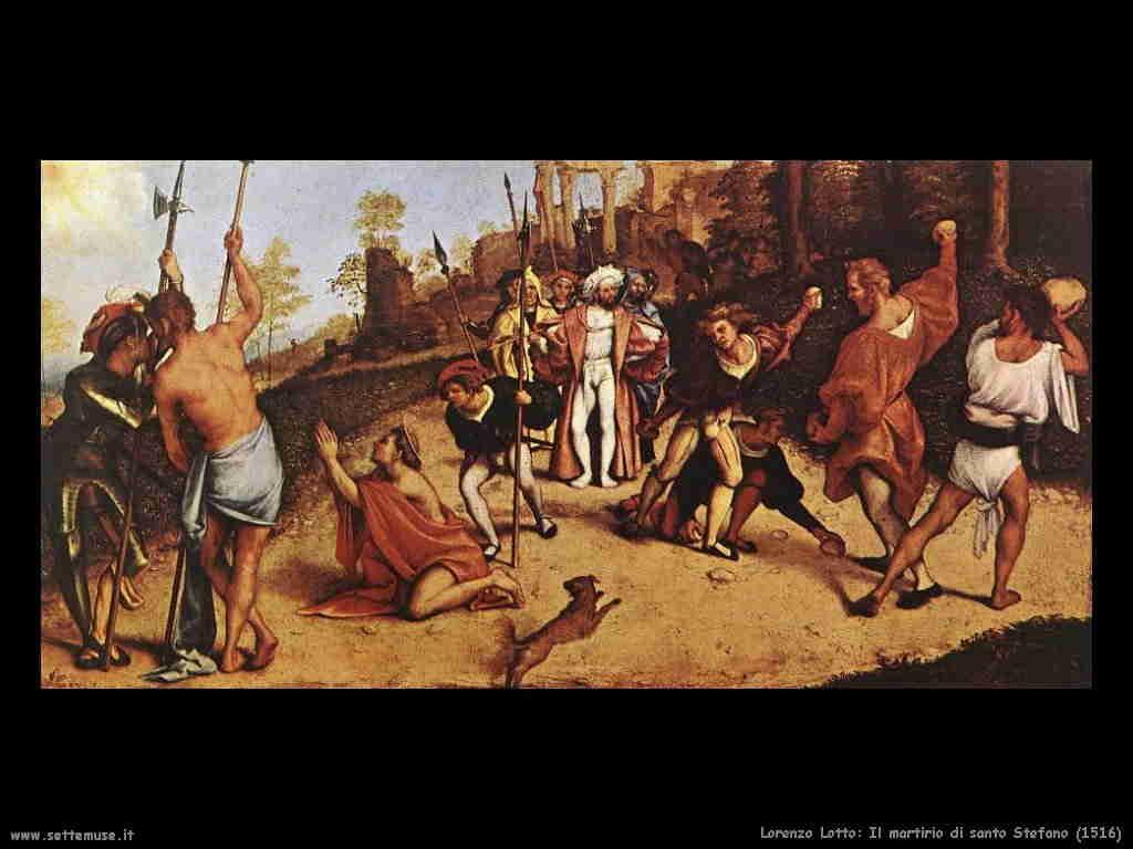Lorenzo Lotto - Martirio di Santo Stefano 1516