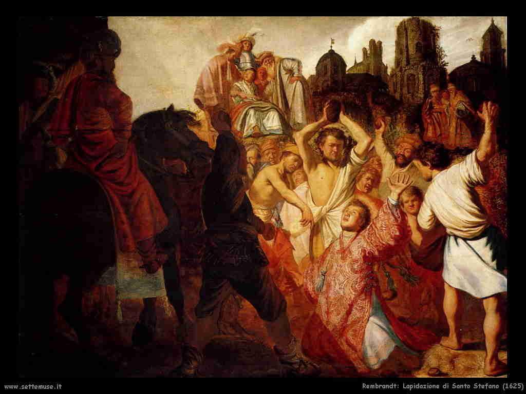 Rembrandt - Lapidazione di S.Stefano 1625