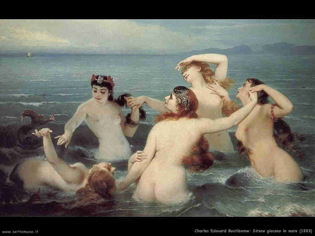 charles_edouard_boutibonne sirene_giocano_nel_mare 1883