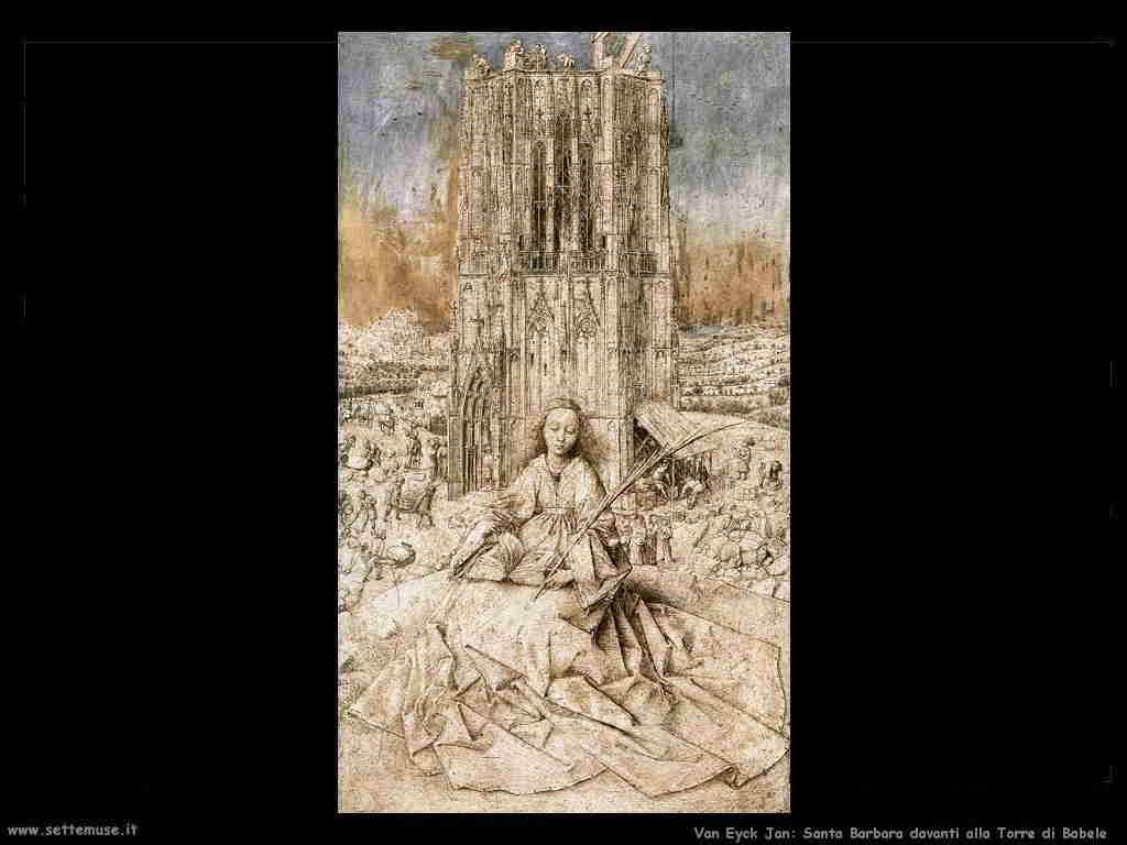 Santa Cecilia e la Torre di Babele  van Eyck