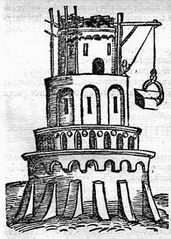 torre di babele incisione