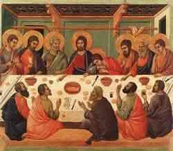 Storia dell'Ultima Cena di Duccio da Boninsegna