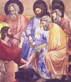 Lavanda dei piedi di Giotto