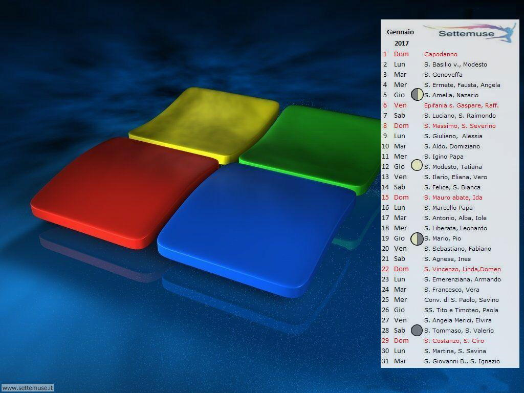 Calendario Per Pc.Calendario 2017 Foto Sfondi Per Sfondo Desktop Settemuse It