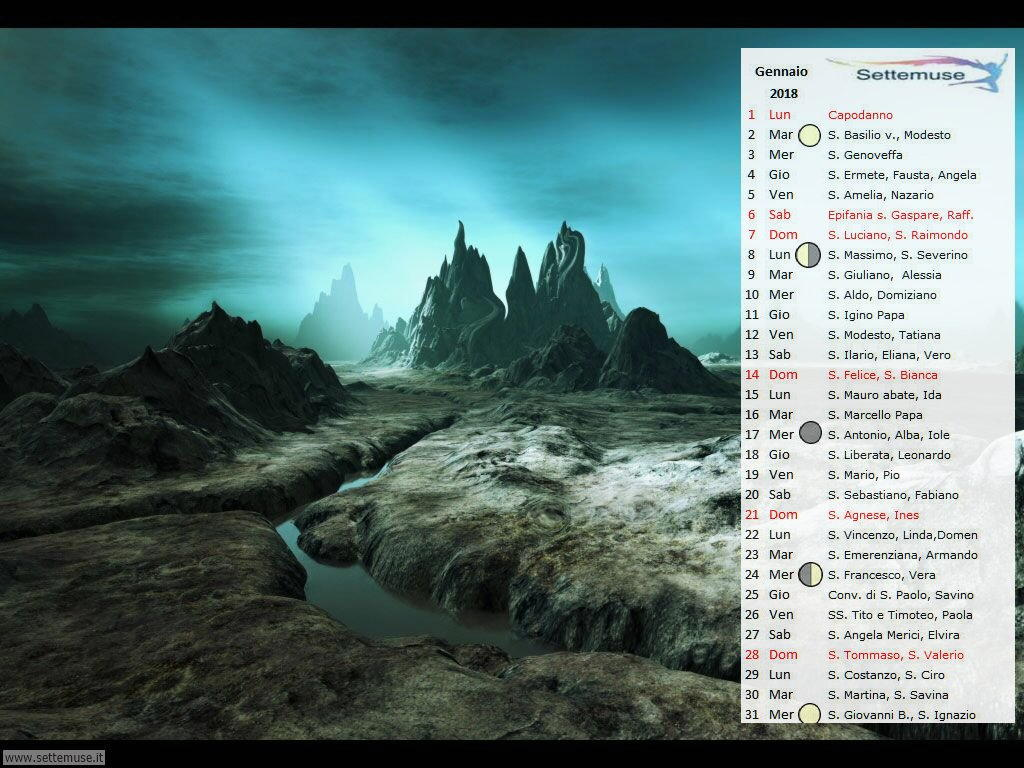 calendario Digital Fantasy 1