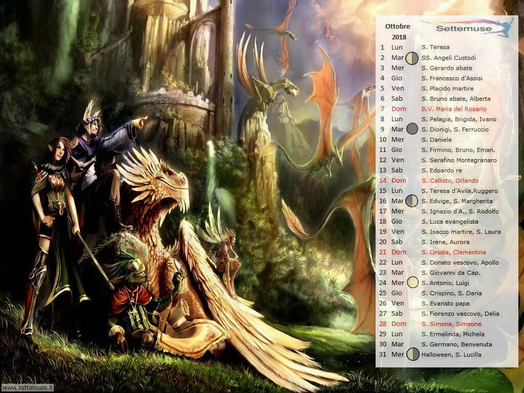 calendario Digital Fantasy 10
