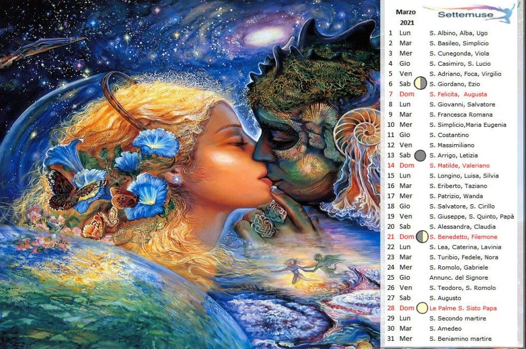 Calendario con foto Digital-Fantasy marzo