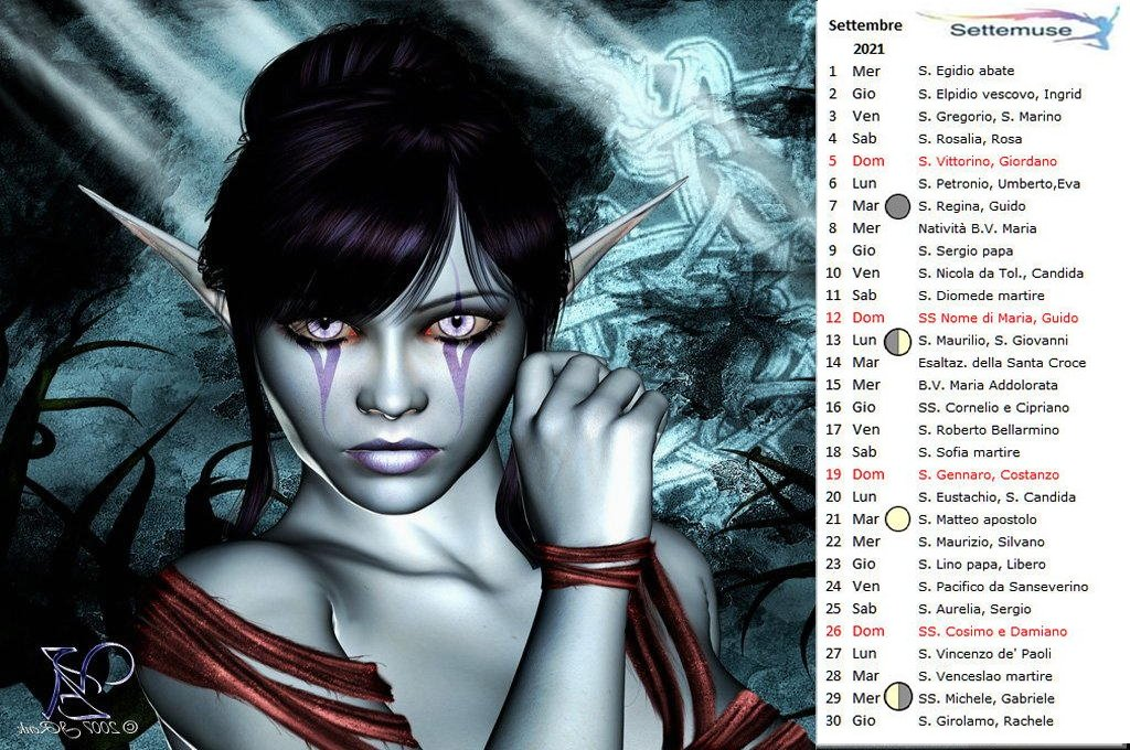 Calendario con foto Digital-Fantasy settembre