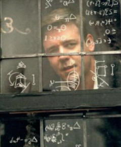 "Russell Crowe in  ""A beautiful mind"""