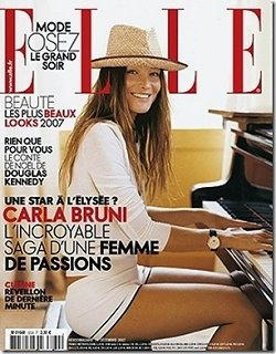 Carla Bruni in copertina
