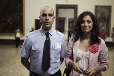 Checco Zalone in una scena del film