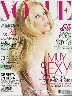 Claudia Schiffer cover girl