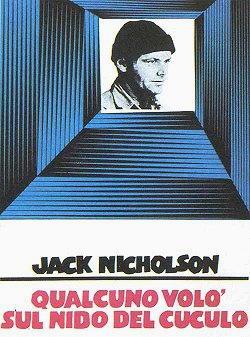 Jack Nicholson interprete di Qualcuno volò sul nido del cuculo