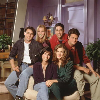 Jennifer Aniston e il cast di Friends