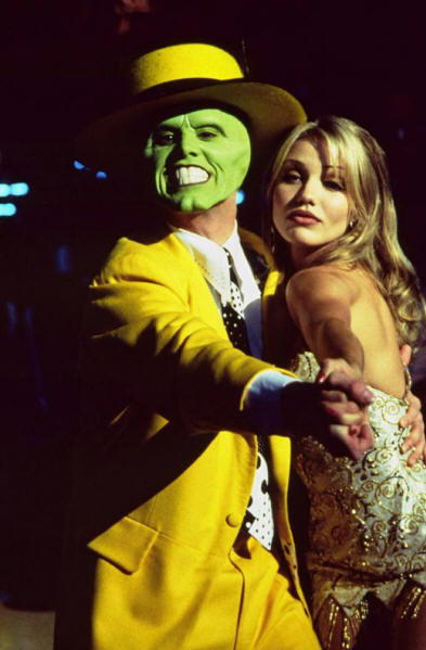 Jim Carrey in The Mask con Cameron Diaz