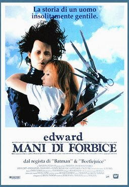 Johnny Depp nel film Edward mani di forbice