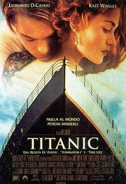 Leonardo DiCaprio interprete di Titanic