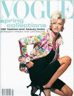 Linda Evangelista sulla copertina di Vogue