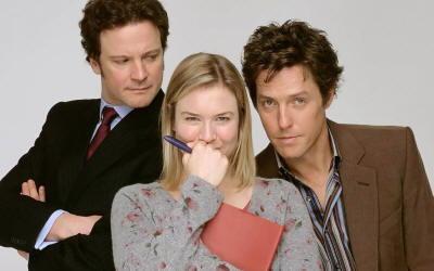 Zellweger con Colin Firth e Hugh Grant