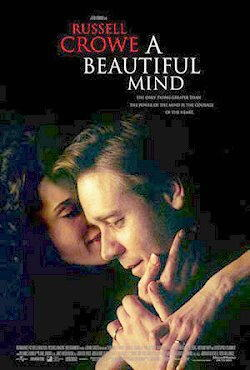 Russell Crowe nel film A beautiful mind