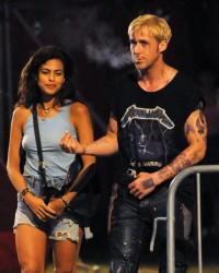 Ryan Gosling con Eva Mendes