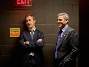 Ryan Gosling con George Clooney in Le Idi di Marzo