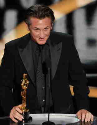 Sean Penn alla premiazione