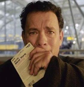 Tom Hanks, in The Terminal