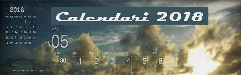 Indice calendari desktop 2018