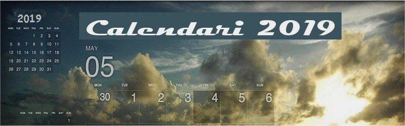 Indice calendari desktop 2019