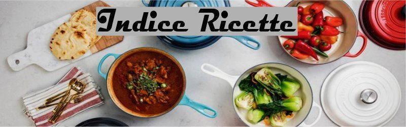 Indice ricette