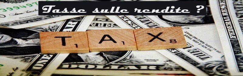 tasse sulle rendite