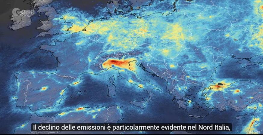 Coronavirus e riduzione inquinamento in Europa