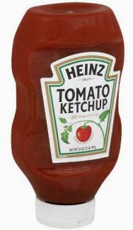 Ketchup contenitore ribaltato