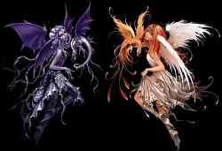 Il Bene e il Male in un disegno fantasy
