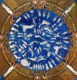 Soffitto del tempio di dendera (ora al Louvre)