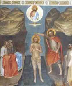 Epifania - Battesimo di Gesù di Giusto de Menabuoi