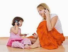 Imitazione mamma e figlia