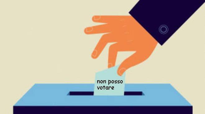 non voto perchè non posso votare