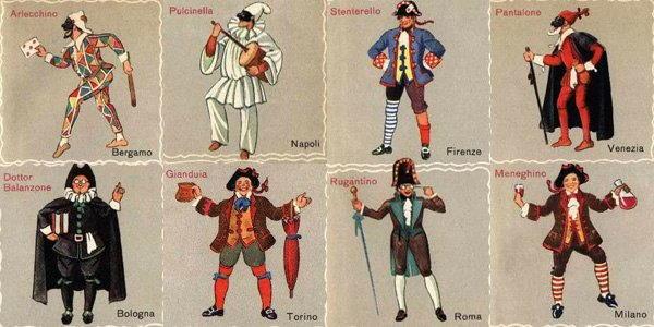 Maschere italiane storia delle maschere italiane for Maschere di carnevale tradizionali da colorare per bambini da stampare