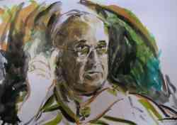 Primo ritratto di Papa Francesco, di F. Guadagnuolo