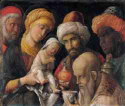 Adorazione dei Magi di Mantegna