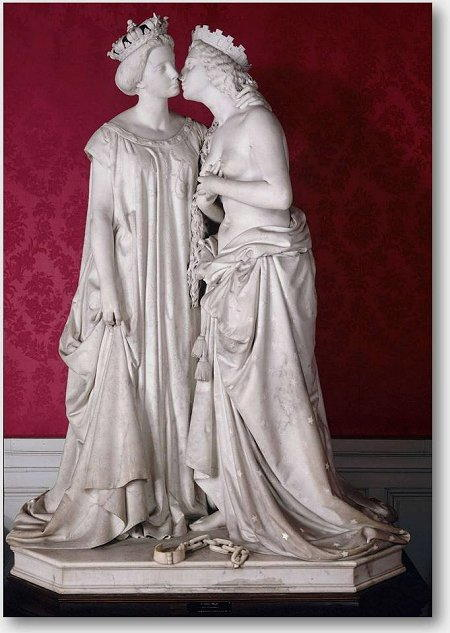 L'Italia riconoscente alla Francia - Vincenzo Vela (1862)