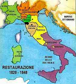 Storia d'Italia Cartina del Risorgimento