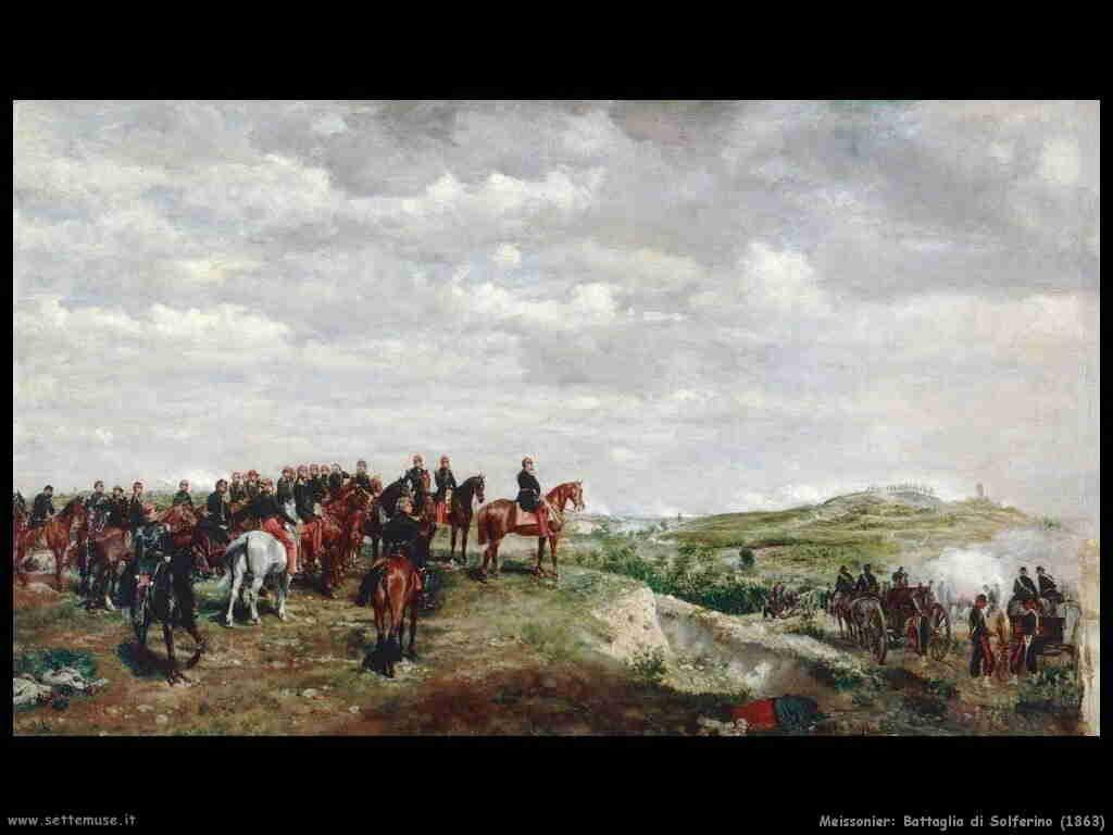 storia italia battaglia_solferino_meissonier_1863