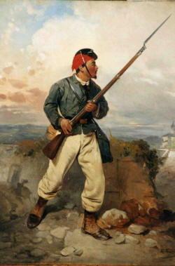 Storia d'Italia - Cacciatore delle Alpi Sergente Trezzini