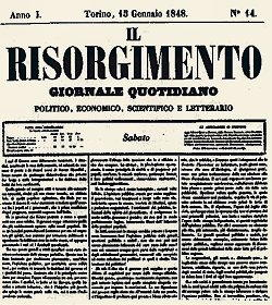 Storia d'Italia giornale Il Risorgimento